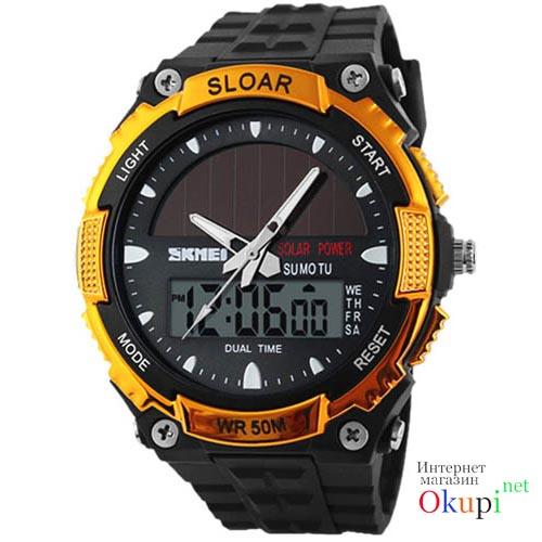 Мужские часы на солнечной батарее Skmei 1049 SLOAR