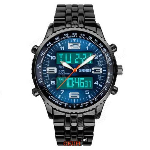 Мужские стальные часы Skmei 1032