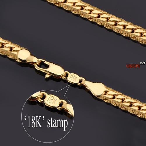 Мужской позолоченный 18k браслет