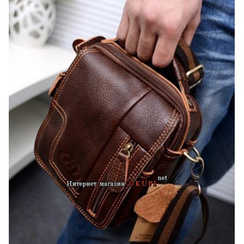 Мужская сумка кожаная небольшая