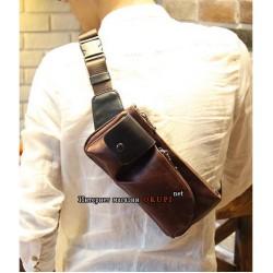Мужская сумка современная телесная