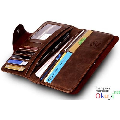 04ea9ea52193 Купить недорого мужской кошелек из натуральной кожи Gaius Kessar