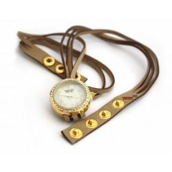 "Женские часы браслет ""Swatch light brown"""