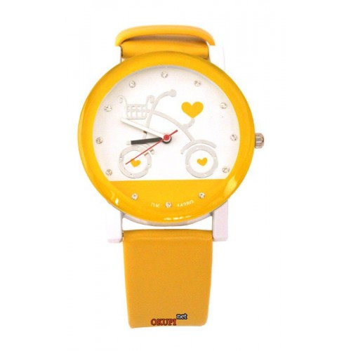 Женские часы наручные Love bike yellow