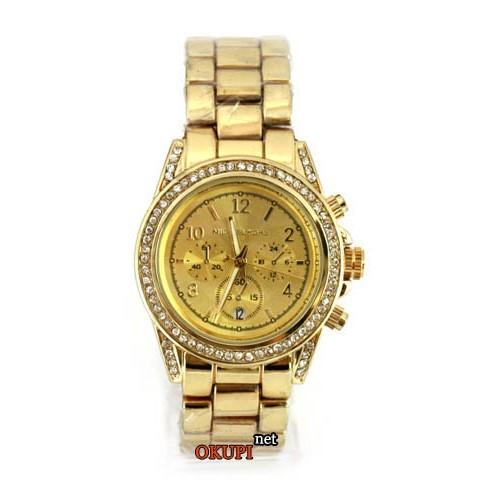 Женские золотые часы со стразами Майкл Корс