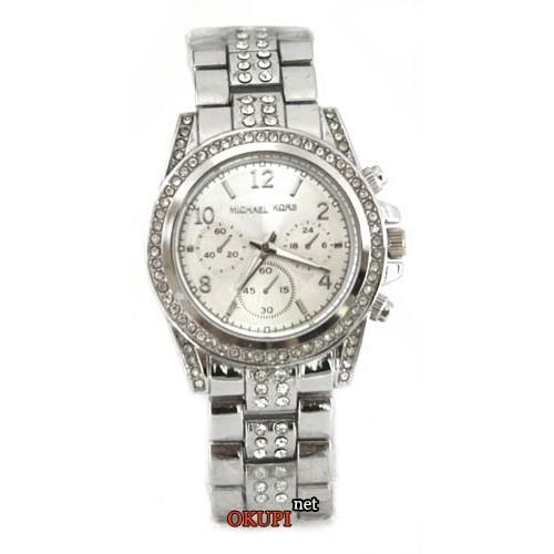 Женские часы со стразами Michael Kors Silver