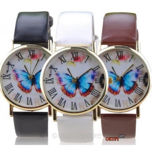 Женские часы креативные с бабочкой
