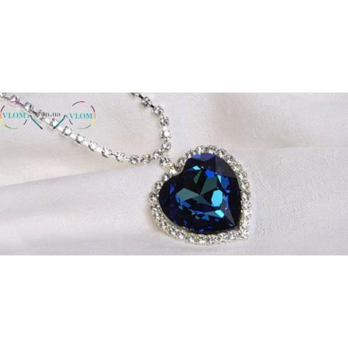 Женский кулон ожерелье Сердце Океана