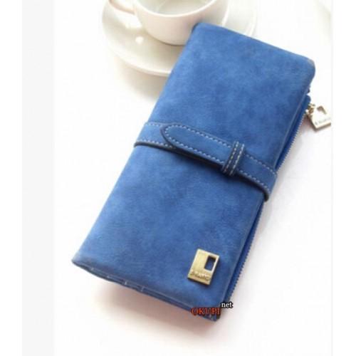 Женский кошелек замшевый синий
