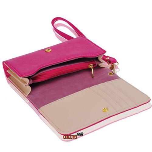 Женский кошелек небольшой розовый