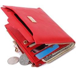 Женский кошелек сумка красный