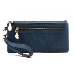 Женский кошелек стильный синий